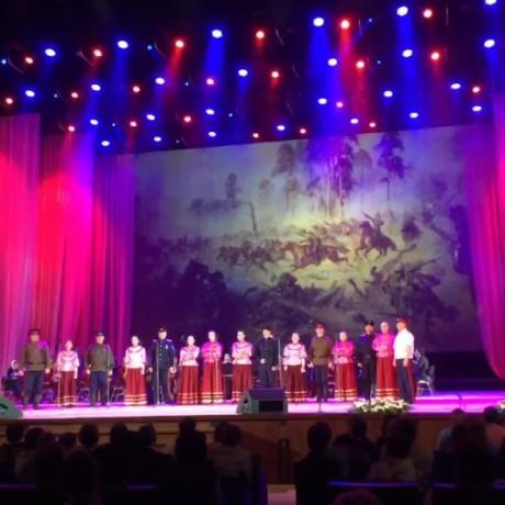 Ансамбль казачьей песни РУСЬ на концерте в Кремлёвском Дворце
